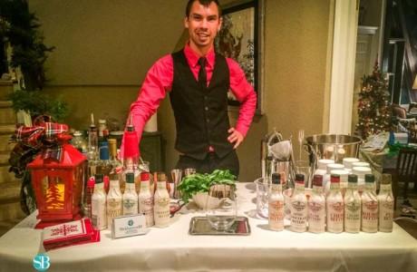 Christmas bartender