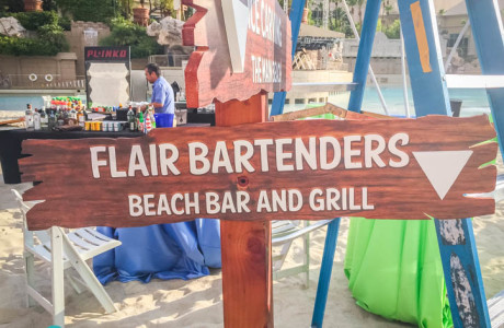 wood sign flair bartenders