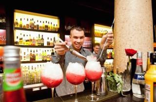 bartender makes cocktails