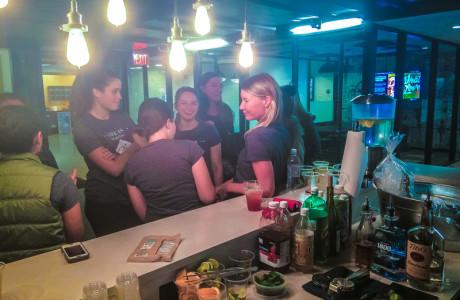 guests at the bar